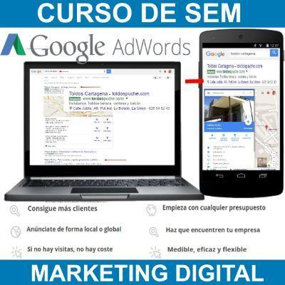 Curso de SEM-Google Adwords-Marketing Digital para Empresas y Emprendedores en Murcia y Cartagena