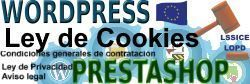 Implementación Ley de Cookies WordPress y PrestaShop